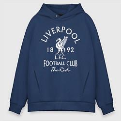 Толстовка оверсайз мужская Liverpool: Football Club цвета тёмно-синий — фото 1