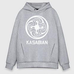 Толстовка оверсайз мужская Kasabian: Symbol цвета меланж — фото 1