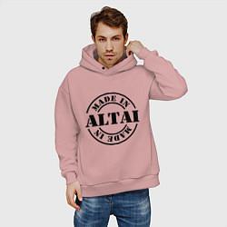 Толстовка оверсайз мужская Made in Altai цвета пыльно-розовый — фото 2