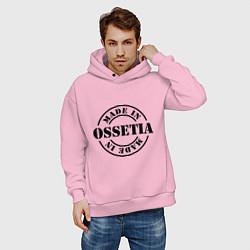 Толстовка оверсайз мужская Made in Ossetia цвета светло-розовый — фото 2