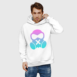 Толстовка оверсайз мужская Rainbow Six:Mute цвета белый — фото 2