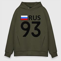 Толстовка оверсайз мужская RUS 93 цвета хаки — фото 1