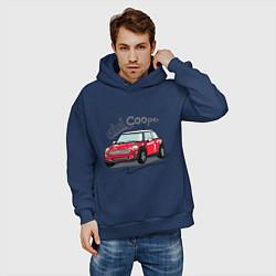 Толстовка оверсайз мужская Mini Cooper цвета тёмно-синий — фото 2