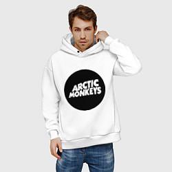 Толстовка оверсайз мужская Arctic Monkeys Round цвета белый — фото 2