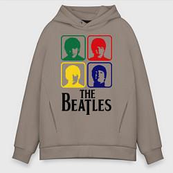 Толстовка оверсайз мужская The Beatles: Colors цвета утренний латте — фото 1