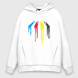 Толстовка оверсайз мужская Abbey Road Colors цвета белый — фото 1
