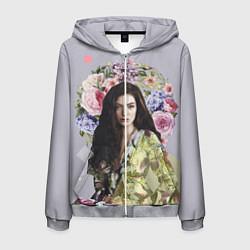 Толстовка 3D на молнии мужская Lorde Floral цвета 3D-меланж — фото 1