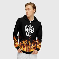 Толстовка 3D на молнии мужская Noize MC цвета 3D-черный — фото 2