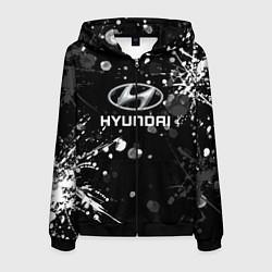 Толстовка 3D на молнии мужская HYUNDAI цвета 3D-черный — фото 1