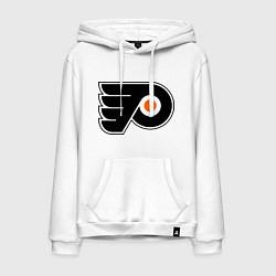 Толстовка-худи хлопковая мужская Philadelphia Flyers цвета белый — фото 1