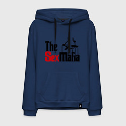 Толстовка-худи хлопковая мужская The SexMafia цвета тёмно-синий — фото 1