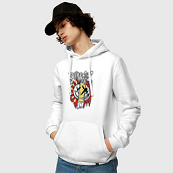 Толстовка-худи хлопковая мужская Blink-182: Mixed Up цвета белый — фото 2