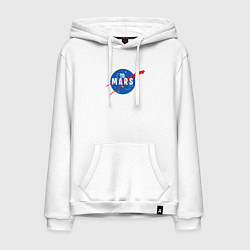Толстовка-худи хлопковая мужская Elon Musk: To Mars цвета белый — фото 1