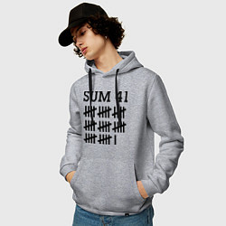 Толстовка-худи хлопковая мужская Sum 41: Days цвета меланж — фото 2