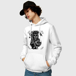 Толстовка-худи хлопковая мужская Sons of Anarchy: Redwood Original цвета белый — фото 2
