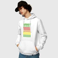 Толстовка-худи хлопковая мужская Armin van Buuren: EQ цвета белый — фото 2