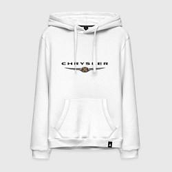 Толстовка-худи хлопковая мужская Chrysler logo цвета белый — фото 1