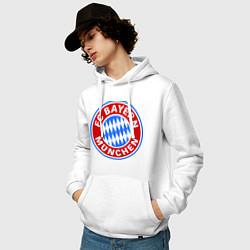 Толстовка-худи хлопковая мужская Bayern Munchen FC цвета белый — фото 2
