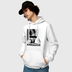 Толстовка-худи хлопковая мужская Rihanna цвета белый — фото 2
