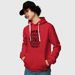 Толстовка-худи хлопковая мужская Parkway Drive: Australia цвета красный — фото 2