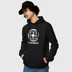 Толстовка-худи хлопковая мужская Kasabian: Symbol цвета черный — фото 2