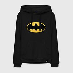 Толстовка-худи хлопковая мужская Batman цвета черный — фото 1