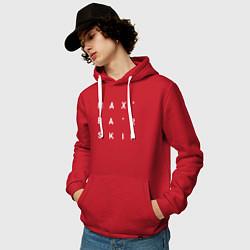 Толстовка-худи хлопковая мужская Max Barskih цвета красный — фото 2