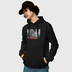Толстовка-худи хлопковая мужская ВандаВижен цвета черный — фото 2