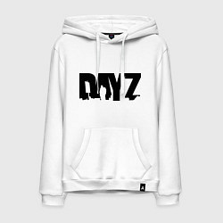 Толстовка-худи хлопковая мужская DayZ цвета белый — фото 1