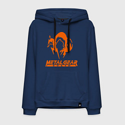Толстовка-худи хлопковая мужская Metal Gear Solid Fox цвета тёмно-синий — фото 1