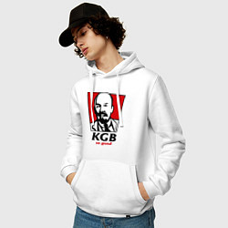 Толстовка-худи хлопковая мужская KGB: So Good цвета белый — фото 2