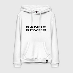 Толстовка-худи хлопковая мужская Range Rover цвета белый — фото 1