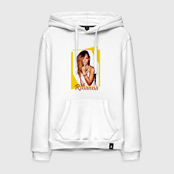 Толстовка-худи хлопковая мужская Rihanna цвета белый — фото 1