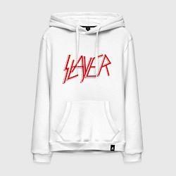 Толстовка-худи хлопковая мужская Slayer цвета белый — фото 1
