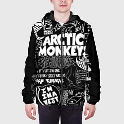 Куртка с капюшоном мужская Arctic Monkeys: I'm in a Vest цвета 3D-черный — фото 2