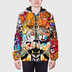 Куртка с капюшоном мужская CUPHEAD цвета 3D-черный — фото 2