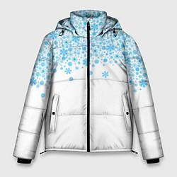 Куртка зимняя мужская Снежинки цвета 3D-черный — фото 1