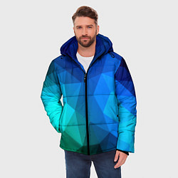 Куртка зимняя мужская Fight Polygon цвета 3D-черный — фото 2