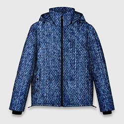 Куртка зимняя мужская Джинсовка Текстура цвета 3D-черный — фото 1