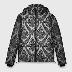 Куртка зимняя мужская Гламурный узор цвета 3D-черный — фото 1
