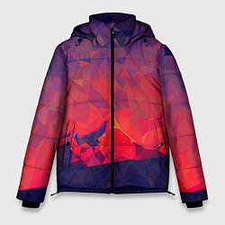 Куртка зимняя мужская Абстракция цвета 3D-черный — фото 1