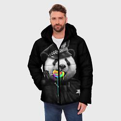 Куртка зимняя мужская Панда с карамелью цвета 3D-черный — фото 2