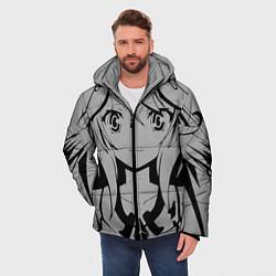 Куртка зимняя мужская No Game No Life цвета 3D-черный — фото 2