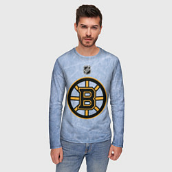 Лонгслив мужской Boston Bruins: Hot Ice цвета 3D — фото 2