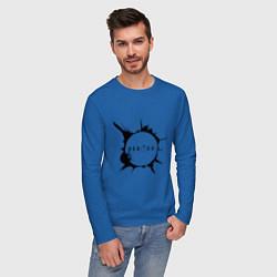 Лонгслив хлопковый мужской Heroes spot цвета синий — фото 2