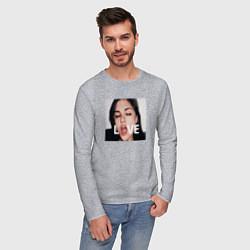 Лонгслив хлопковый мужской Sasha Grey LOVE цвета меланж — фото 2
