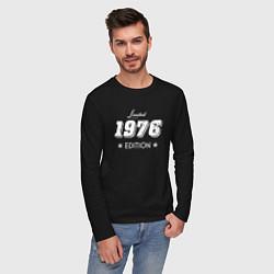 Лонгслив хлопковый мужской Limited Edition 1976 цвета черный — фото 2