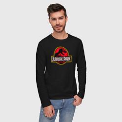 Лонгслив хлопковый мужской Jurassic Park цвета черный — фото 2
