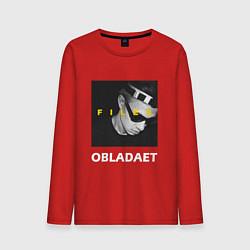 Лонгслив хлопковый мужской Obladaet Files цвета красный — фото 1