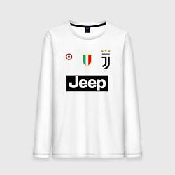 Лонгслив хлопковый мужской FC Juventus цвета белый — фото 1